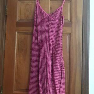 Pink striped sundress